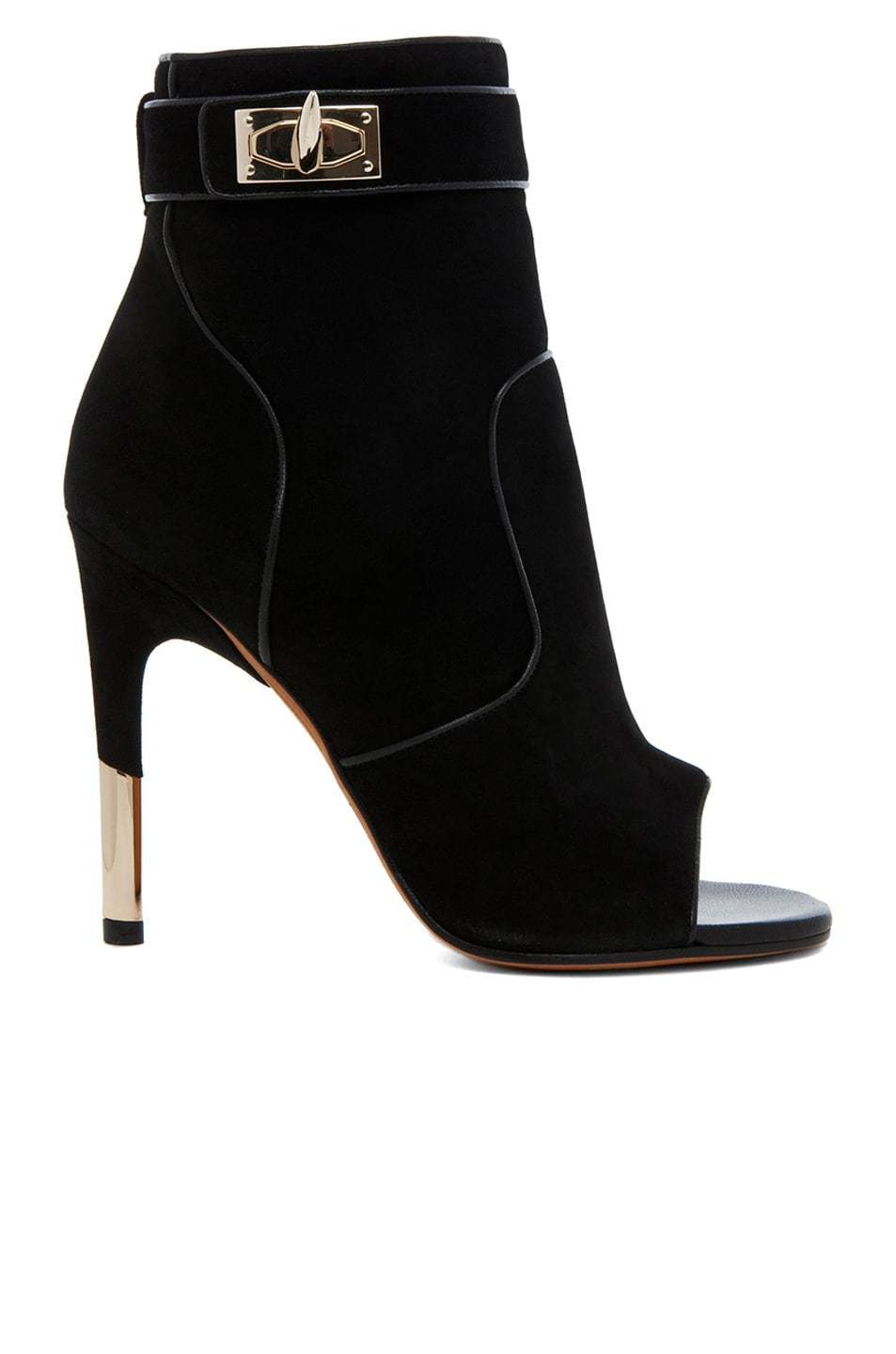 Image 1 of GIVENCHY Dunke Suede Nappa Shark Lock Bootie in Black