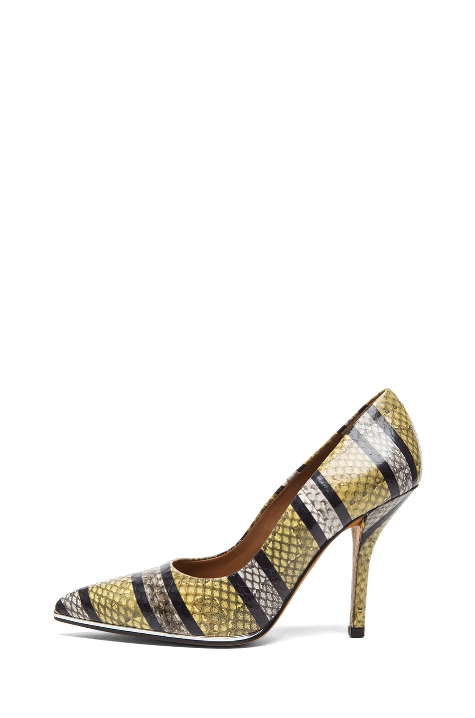 Image 1 of GIVENCHY Ayers Snakeskin Printed Pumps in Yellow
