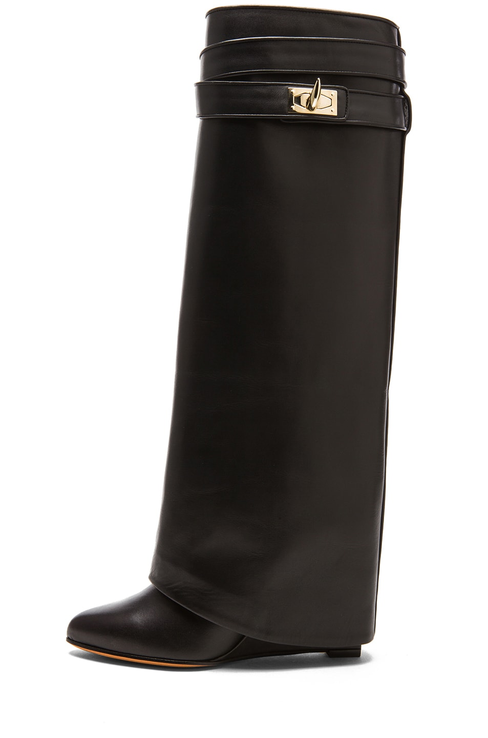 Image 1 of GIVENCHY Shark Lock Tall Leather Pant Boots in Black