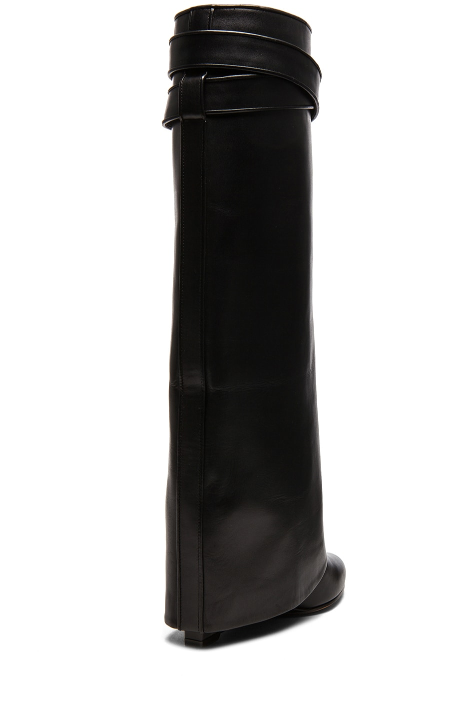 22c452f28c85d Givenchy Shark Lock Tall Leather Pant Boots in Black | FWRD