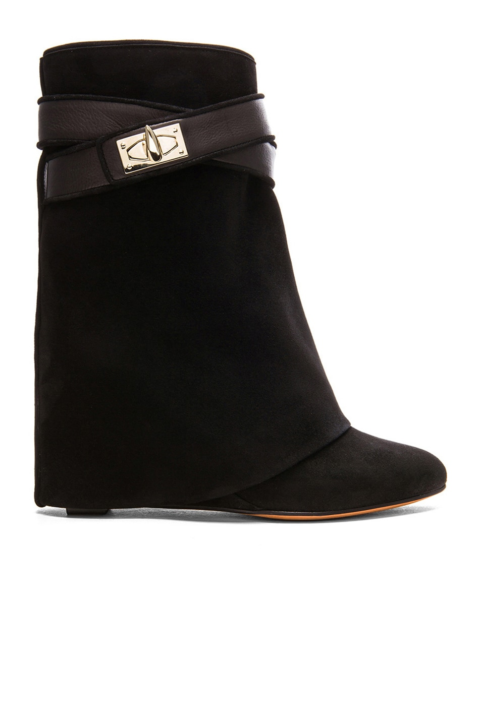 Image 1 of GIVENCHY Shark Lock Suede Boots in Black