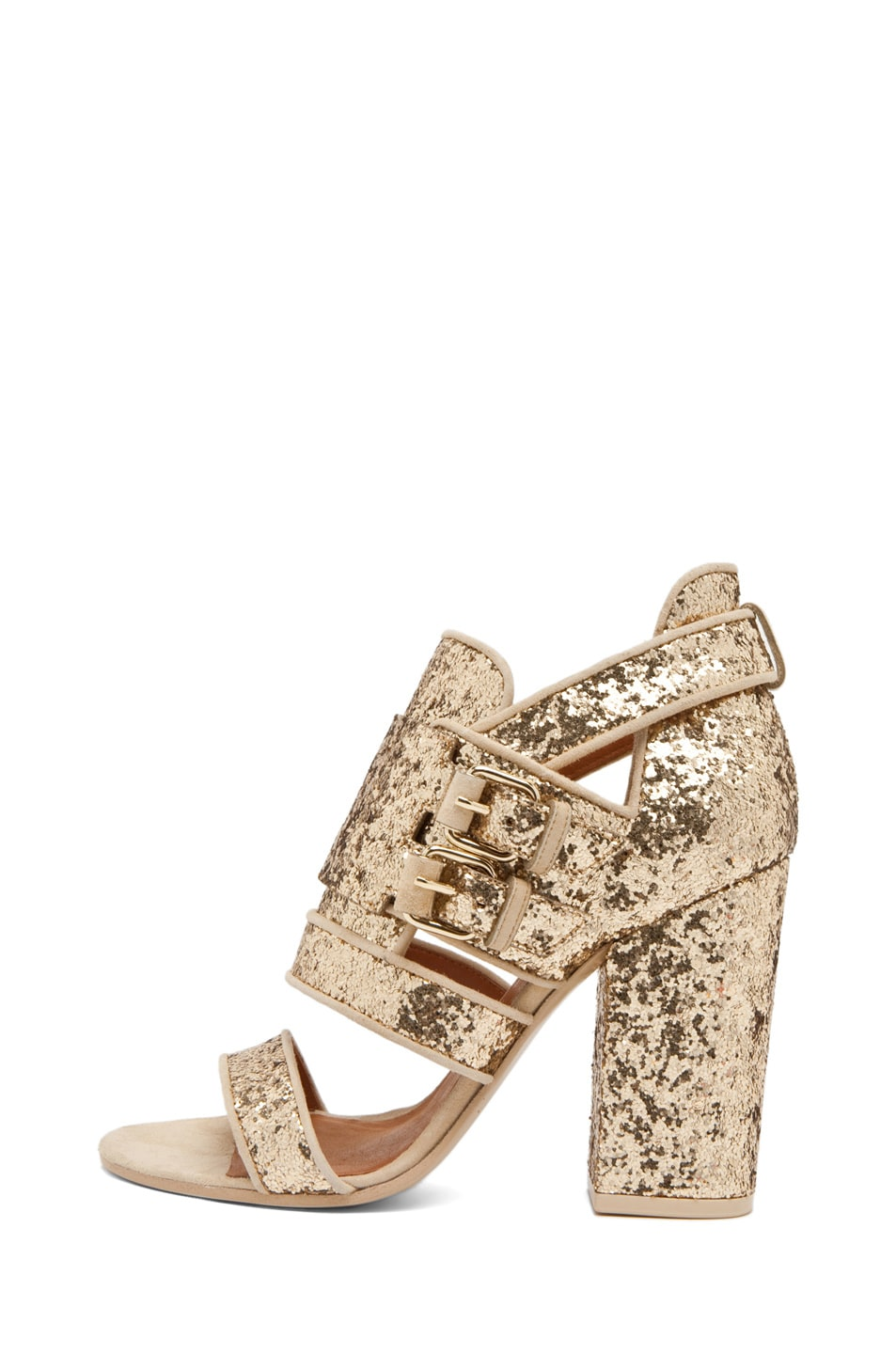 Image 1 of GIVENCHY Vittorias Heel in Glitter Pale Gold
