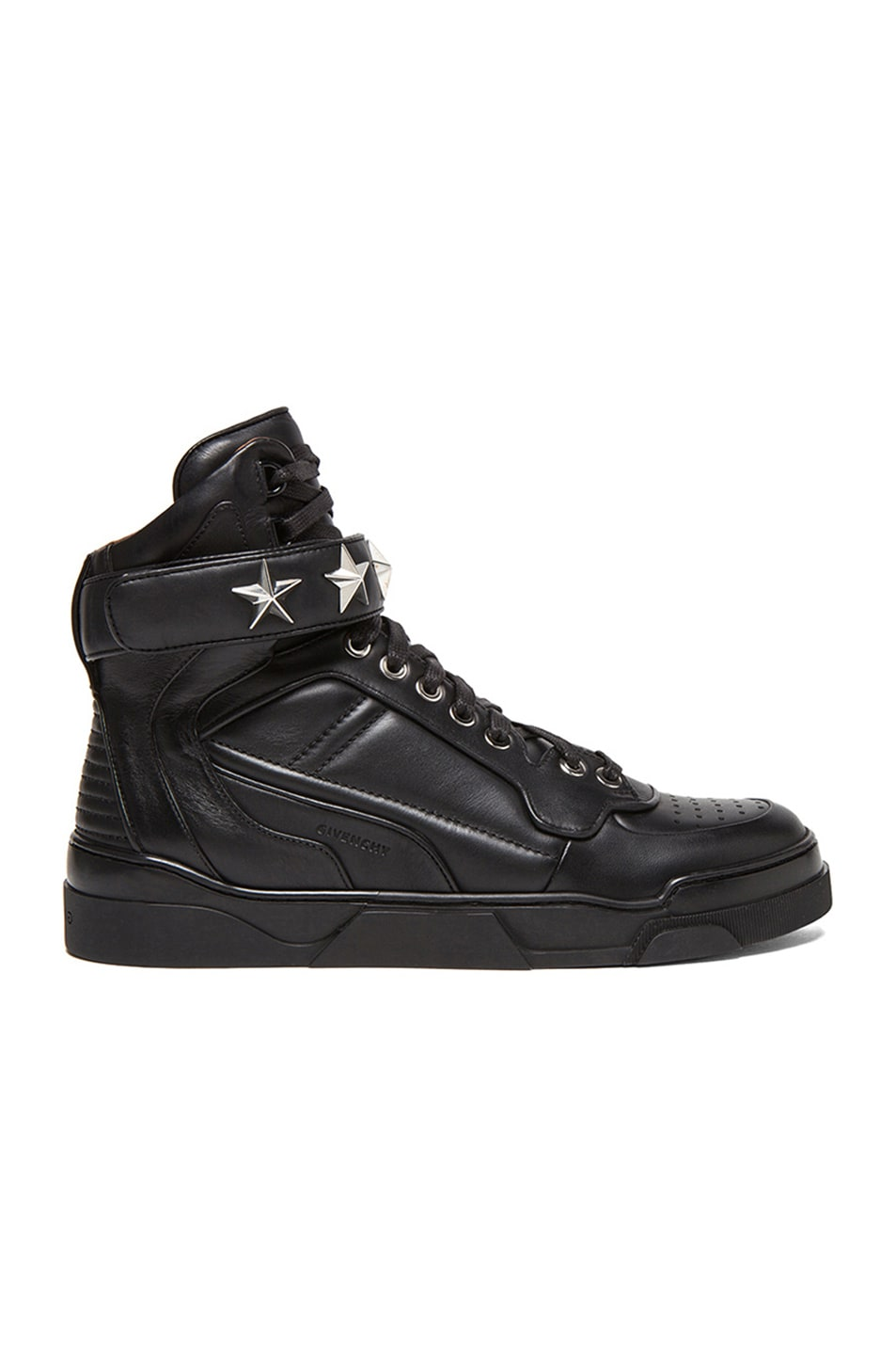 Image 1 of GIVENCHY Tyson High Top Leather Sneakers in Black