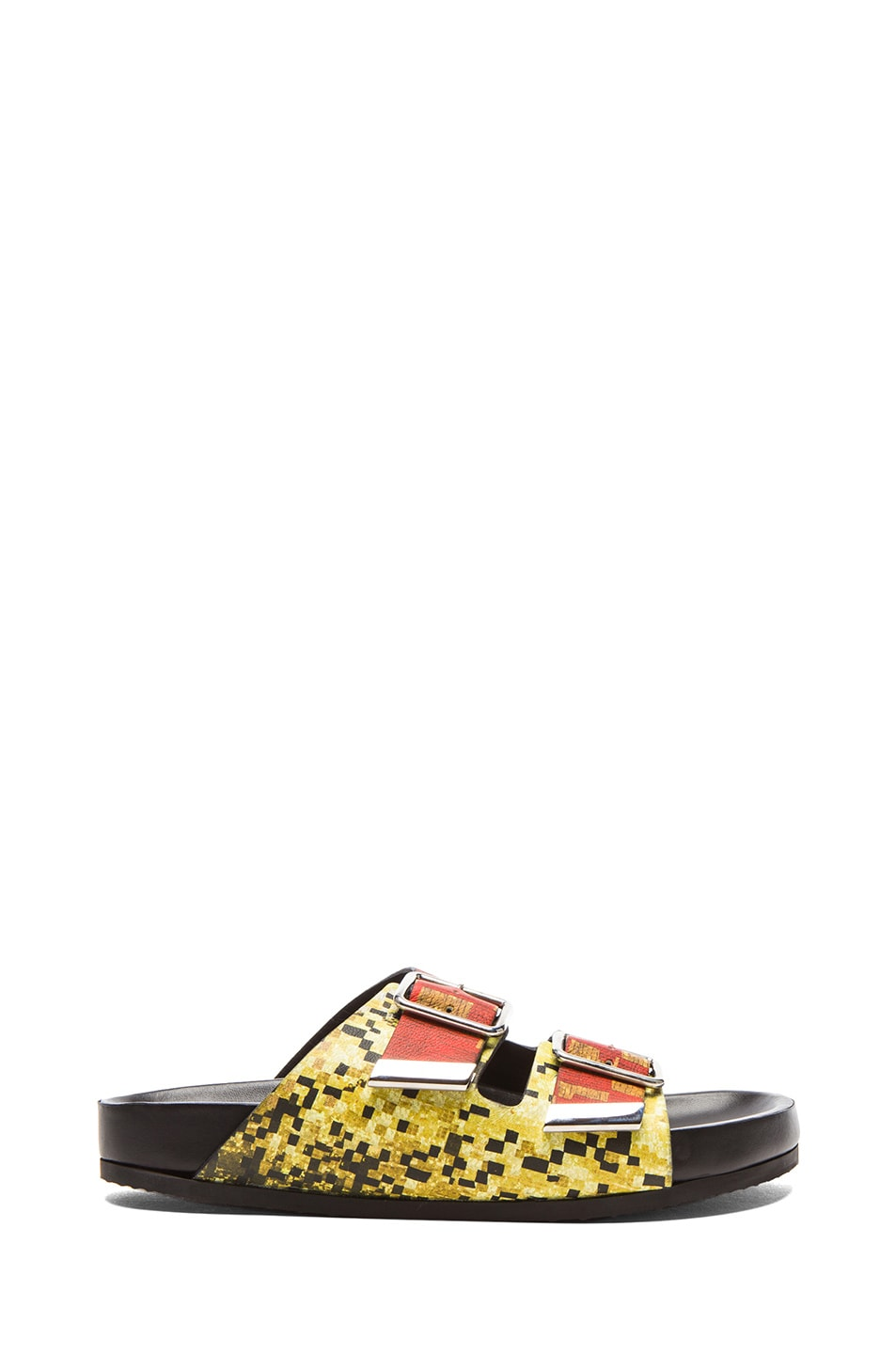 Image 1 of GIVENCHY Printed Swiss Leather Sandals in Multi