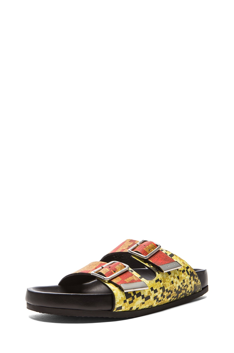 Image 2 of GIVENCHY Printed Swiss Leather Sandals in Multi