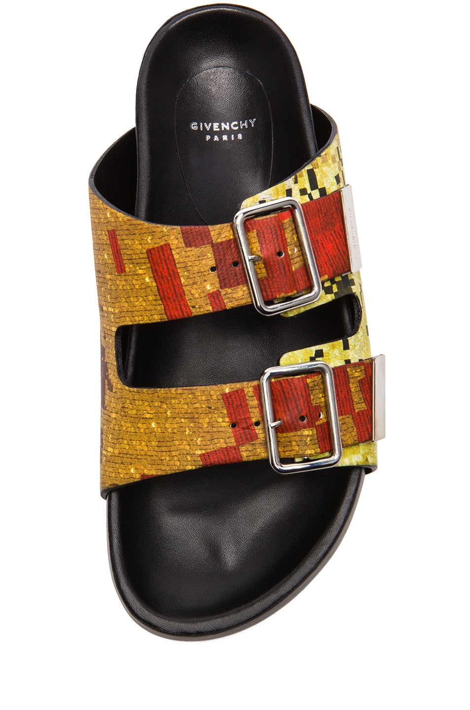Image 4 of GIVENCHY Printed Swiss Leather Sandals in Multi