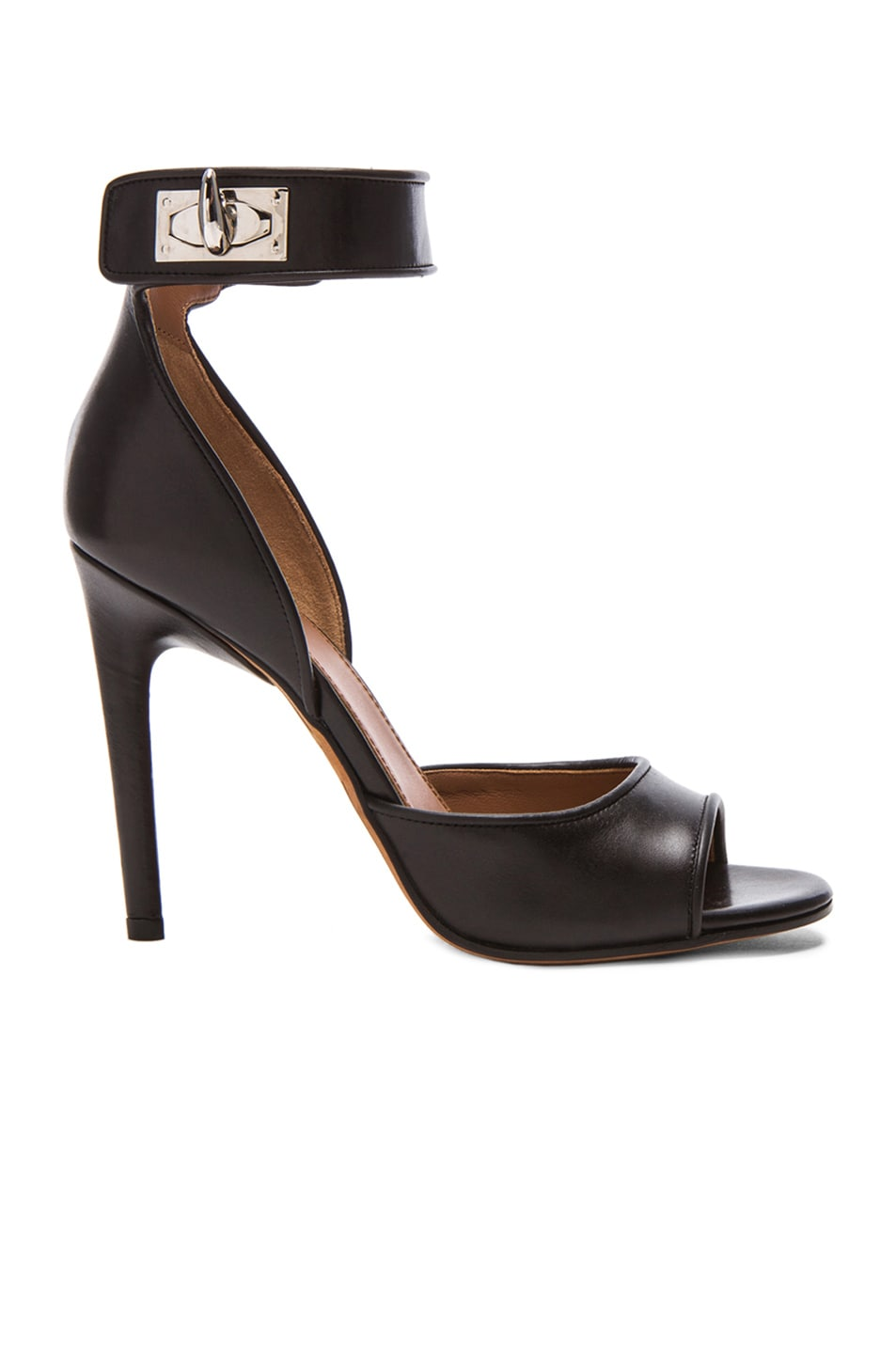 Image 1 of GIVENCHY Shark Lock Leather Heels in Black