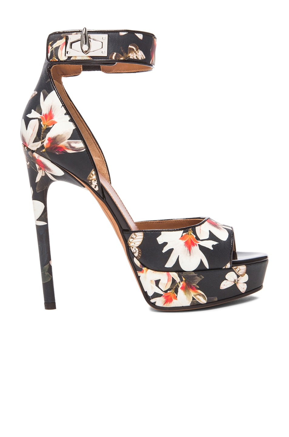 Image 1 of GIVENCHY Shark Lock Magnolia Leather Heels in Multi