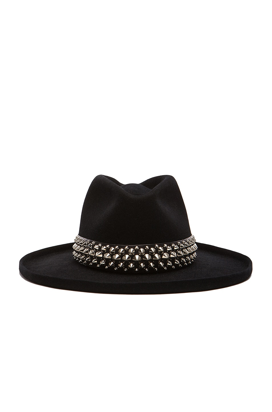 Image 1 of Gladys Tamez Millinery The Johnny Hat with Studded Band in Black