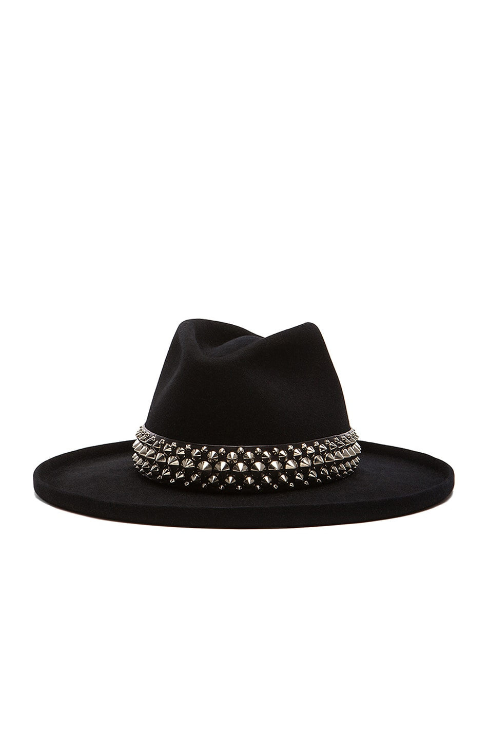 Image 2 of Gladys Tamez Millinery The Johnny Hat with Studded Band in Black