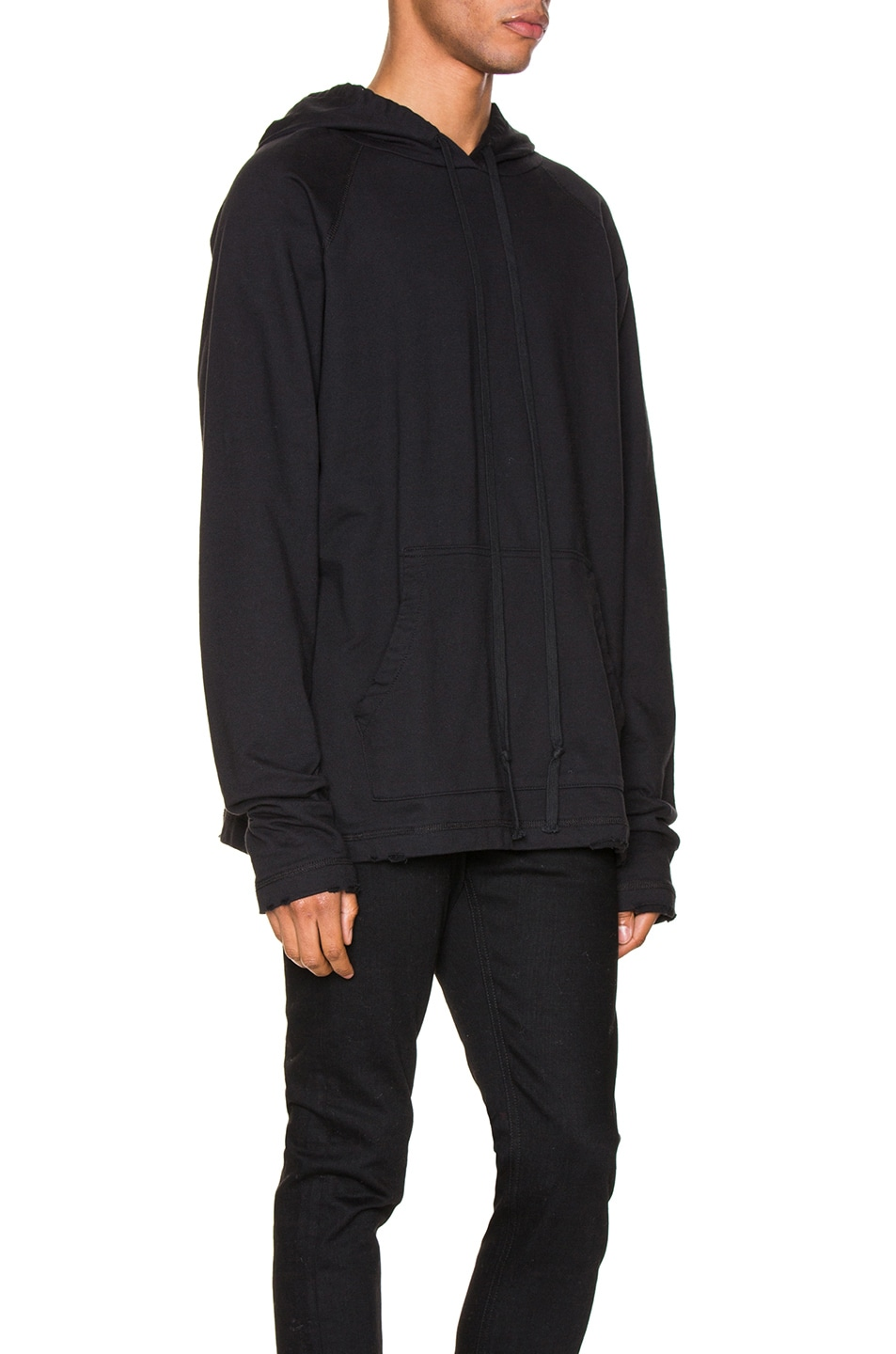 Image 3 of Greg Lauren Artist Hoodie in Black