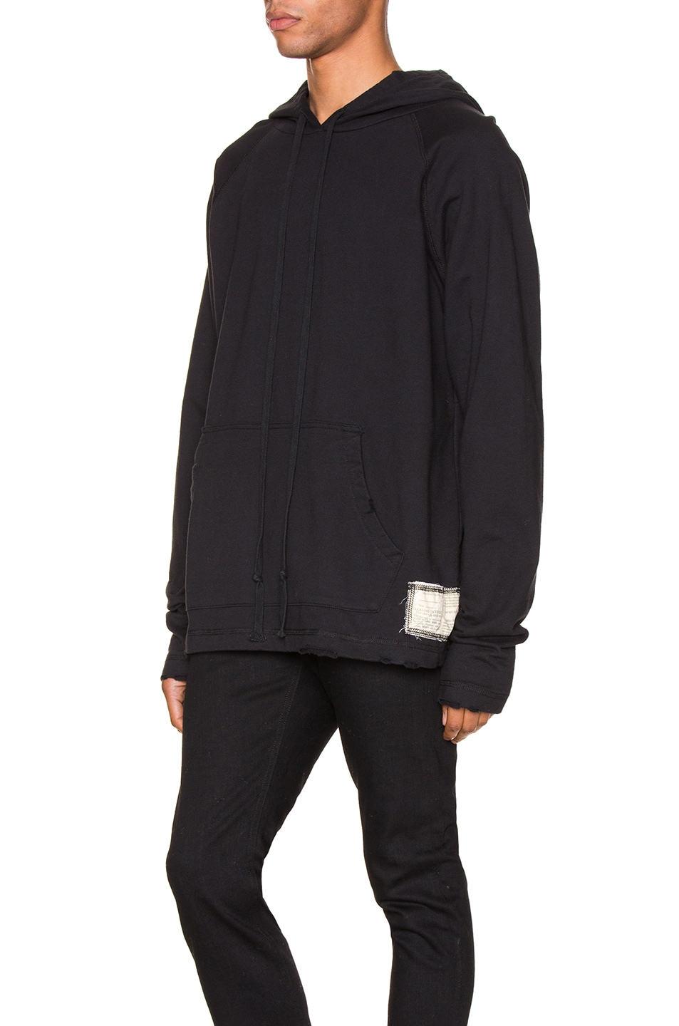 Image 4 of Greg Lauren Artist Hoodie in Black