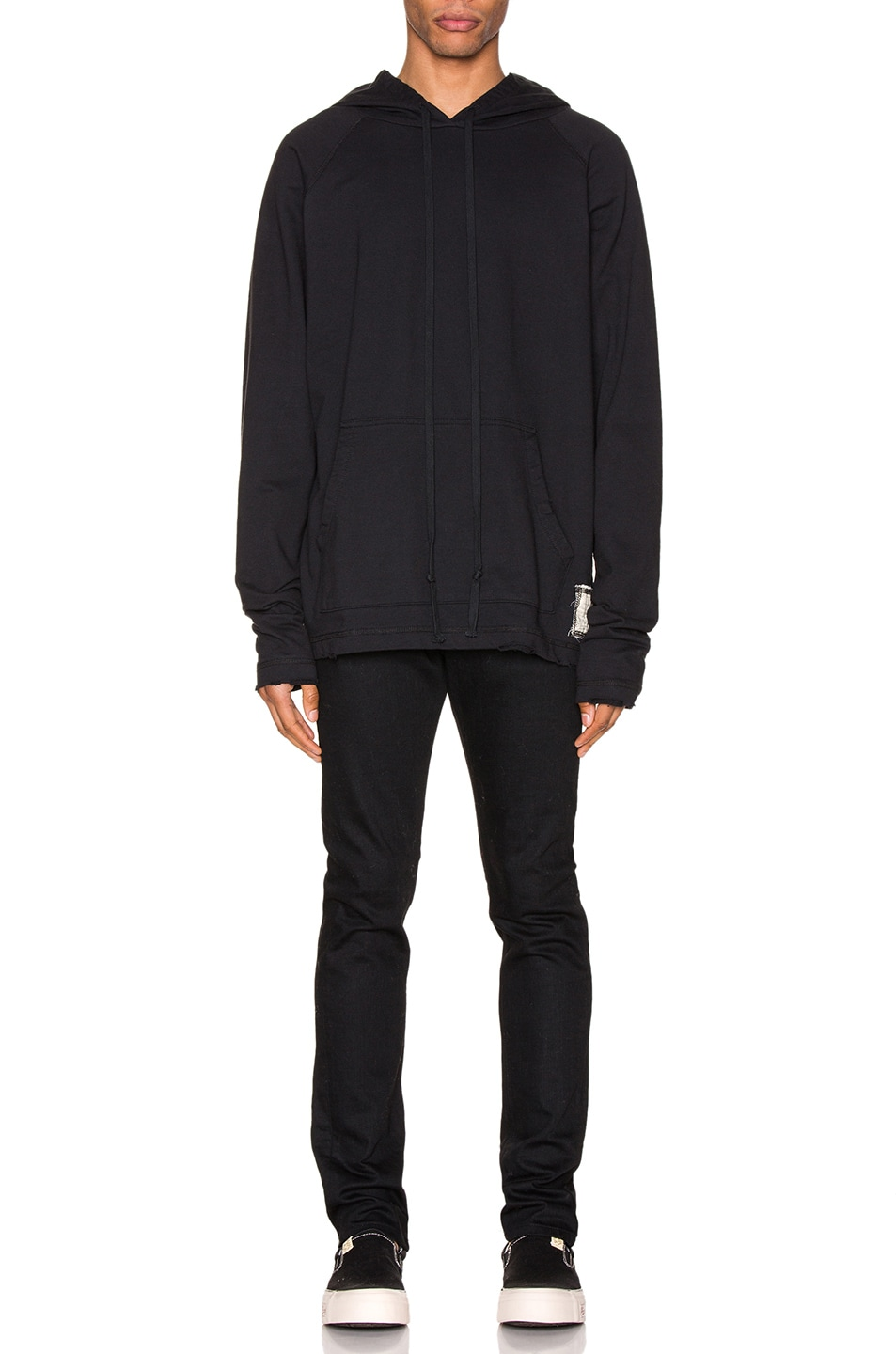 Image 6 of Greg Lauren Artist Hoodie in Black