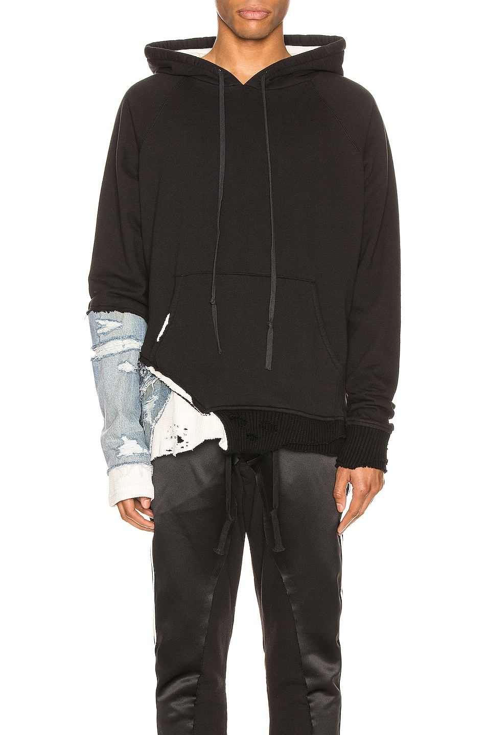 Image 1 of Greg Lauren Fragment Hoodie in Black