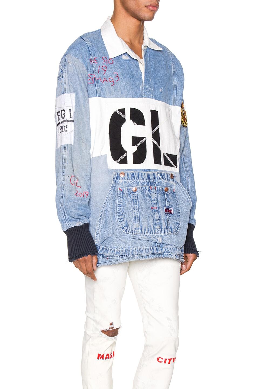 Image 2 of Greg Lauren Denim GL Ruby Blouson in Blue