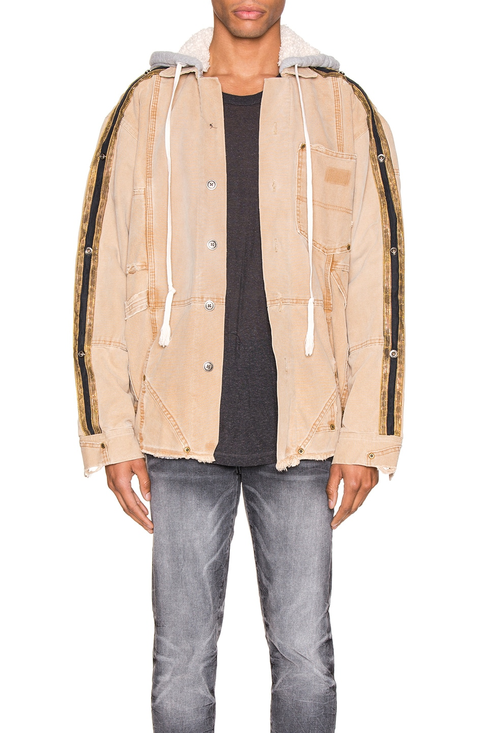 Image 1 of Greg Lauren Canvas Royal Work Jacket in Brown