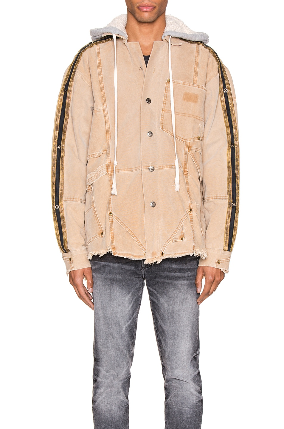 Image 2 of Greg Lauren Canvas Royal Work Jacket in Brown