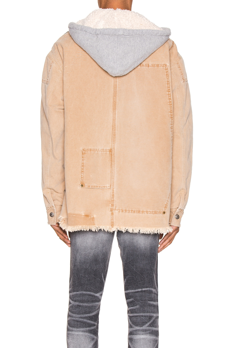 Image 5 of Greg Lauren Canvas Royal Work Jacket in Brown