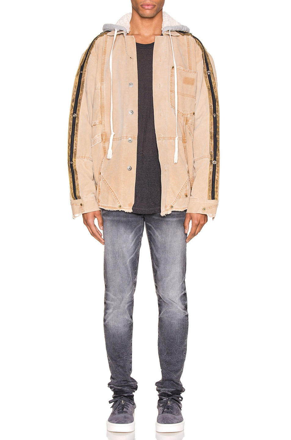 Image 6 of Greg Lauren Canvas Royal Work Jacket in Brown
