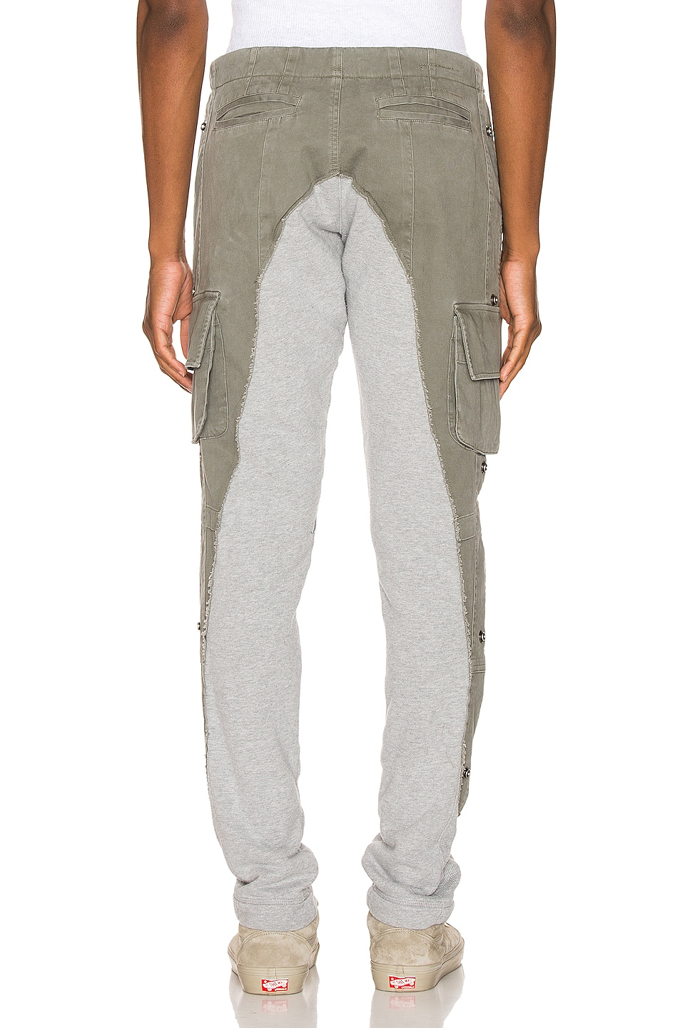 Image 4 of Greg Lauren 50/50 Army Terry Long Pant in Army