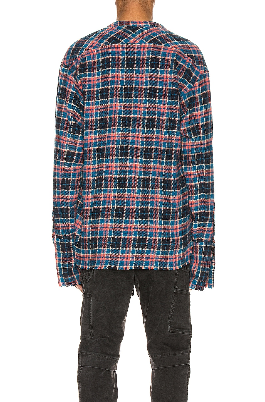 Image 4 of Greg Lauren Classic Studio Shirt in Blue