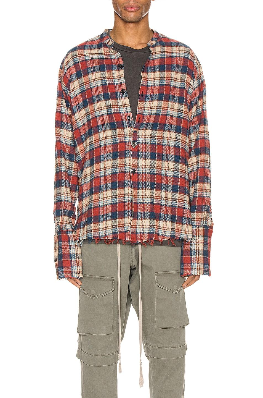 Image 1 of Greg Lauren Classic Studio Shirt in Navy