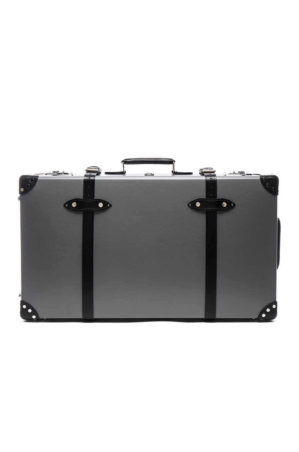 "Image 1 of Globe-Trotter 30"" Centenary Suitcase with Wheels in Grey & Black"