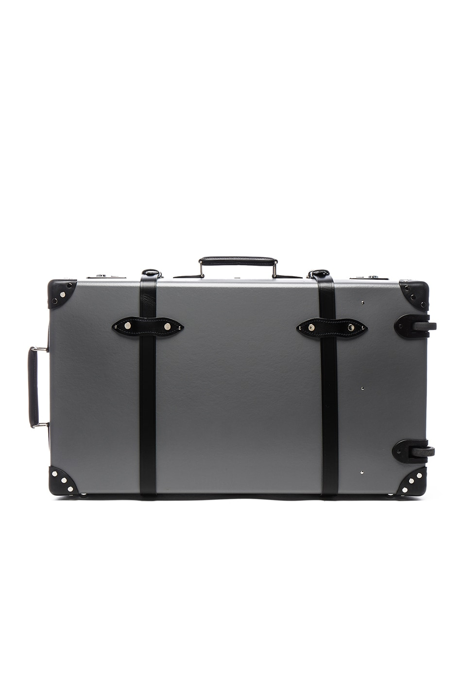 "Image 2 of Globe-Trotter 30"" Centenary Suitcase with Wheels in Grey & Black"