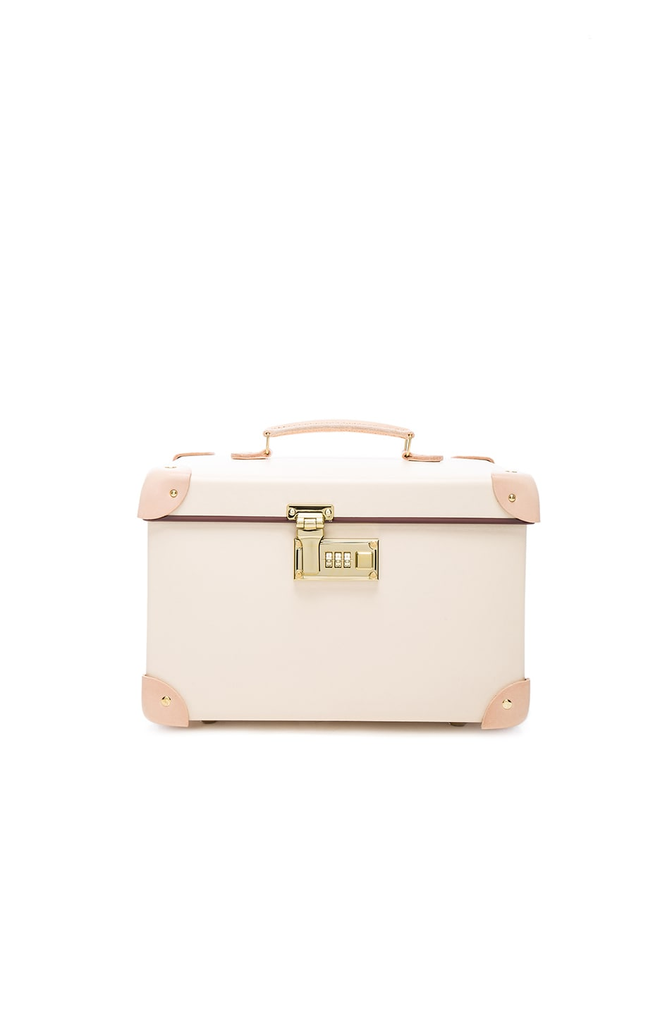 """Image 1 of Globe-Trotter 13"""" Vanity Case in Ivory & Natural"""