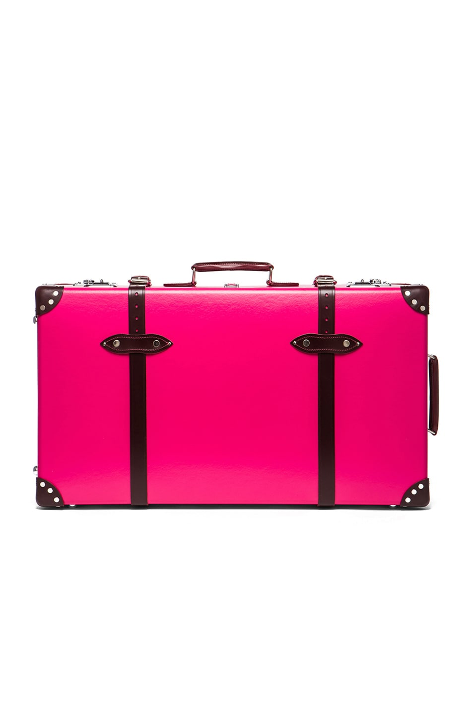 """Image 1 of Globe-Trotter 30"""" Limited Edition Candy Suitcase with Wheels in Hot Pink & Burgundy"""