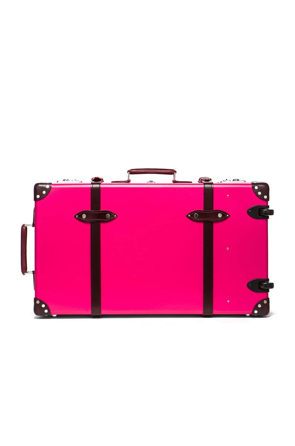 """Image 2 of Globe-Trotter 30"""" Limited Edition Candy Suitcase with Wheels in Hot Pink & Burgundy"""