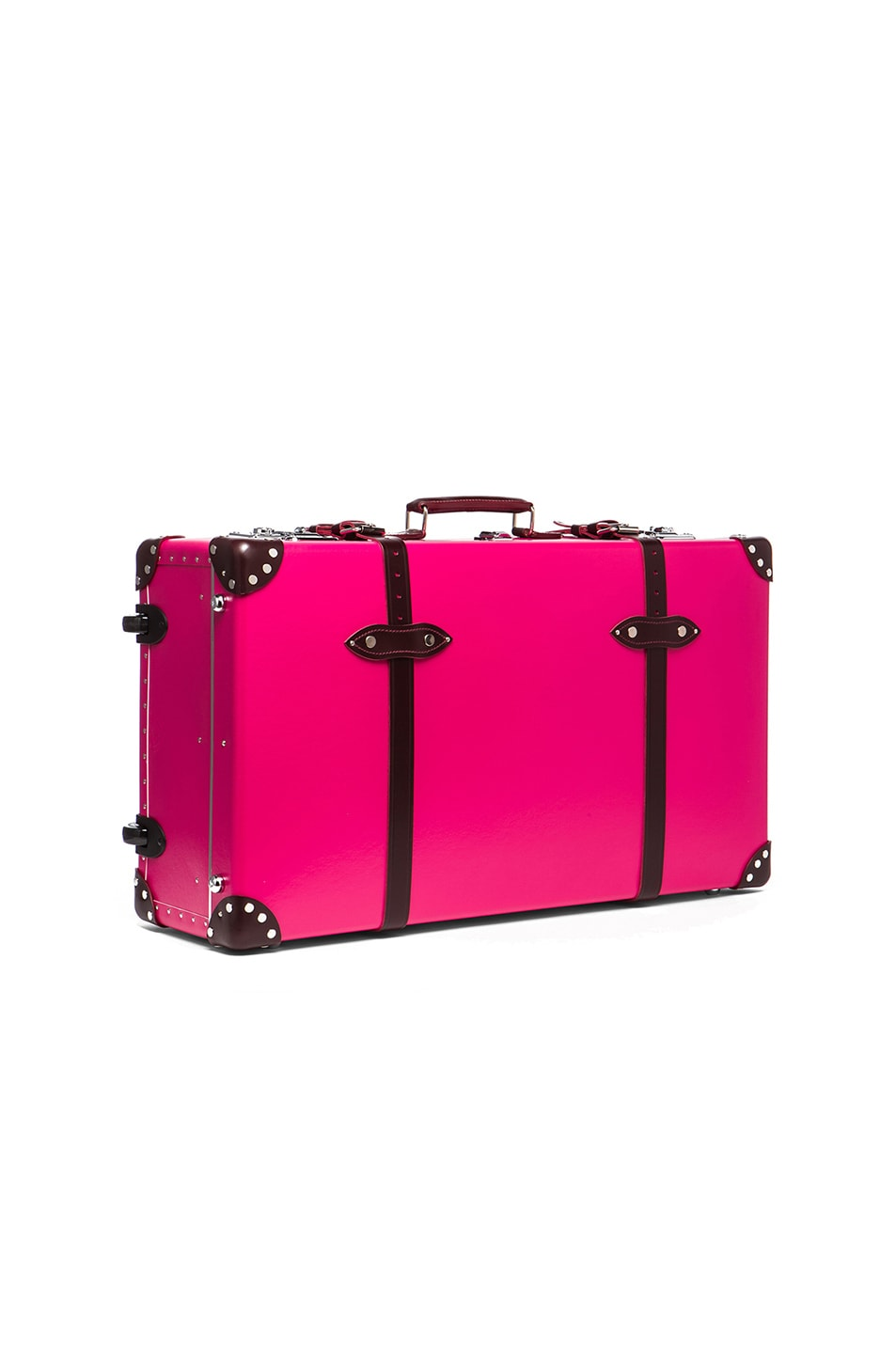 """Image 3 of Globe-Trotter 30"""" Limited Edition Candy Suitcase with Wheels in Hot Pink & Burgundy"""