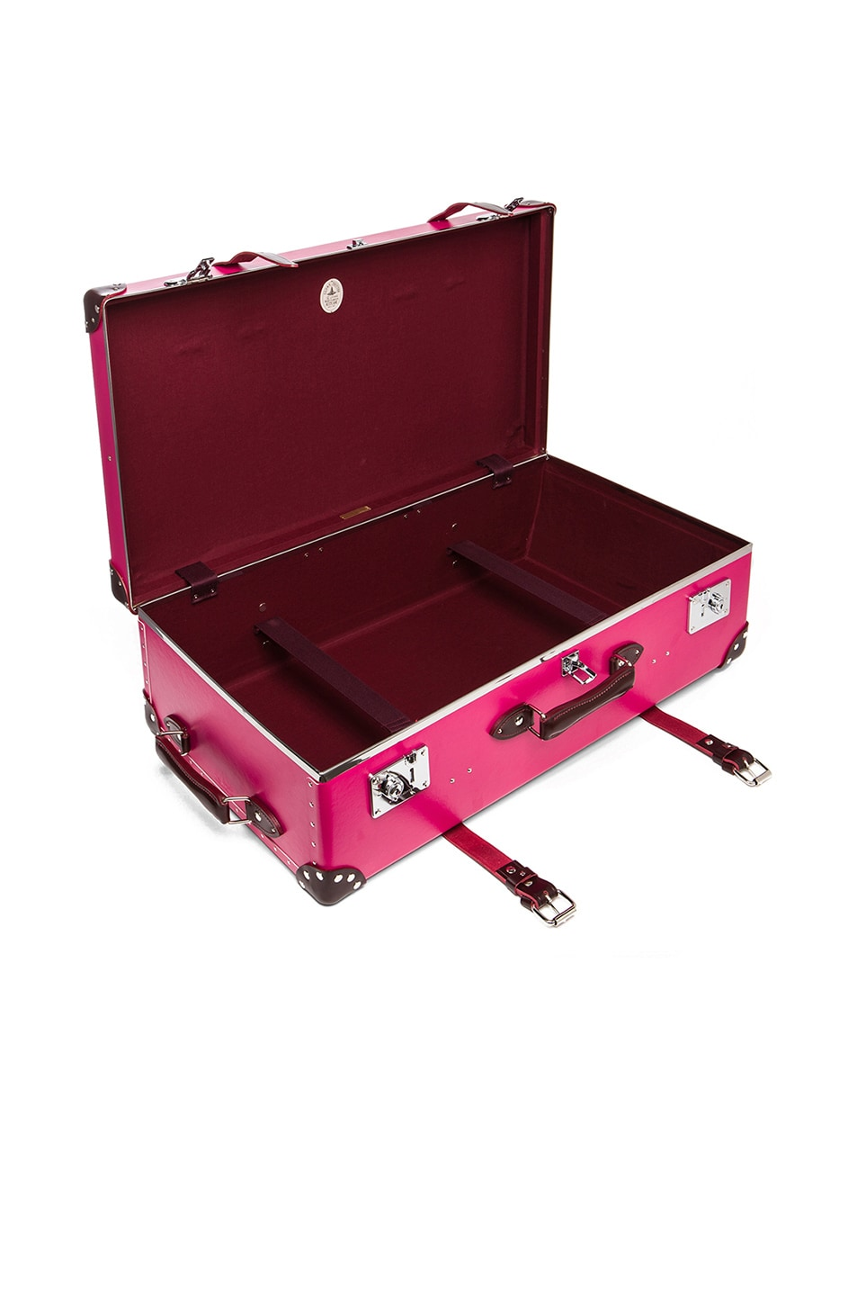 """Image 4 of Globe-Trotter 30"""" Limited Edition Candy Suitcase with Wheels in Hot Pink & Burgundy"""