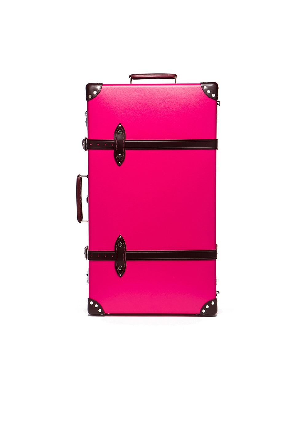 """Image 5 of Globe-Trotter 30"""" Limited Edition Candy Suitcase with Wheels in Hot Pink & Burgundy"""