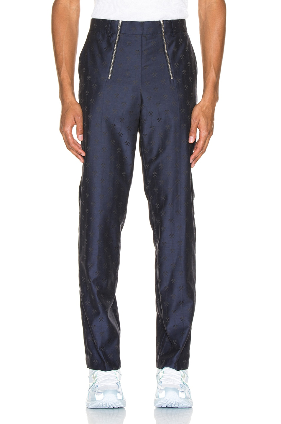 Image 1 of GmbH Talc Jacquard Trouser in Navy