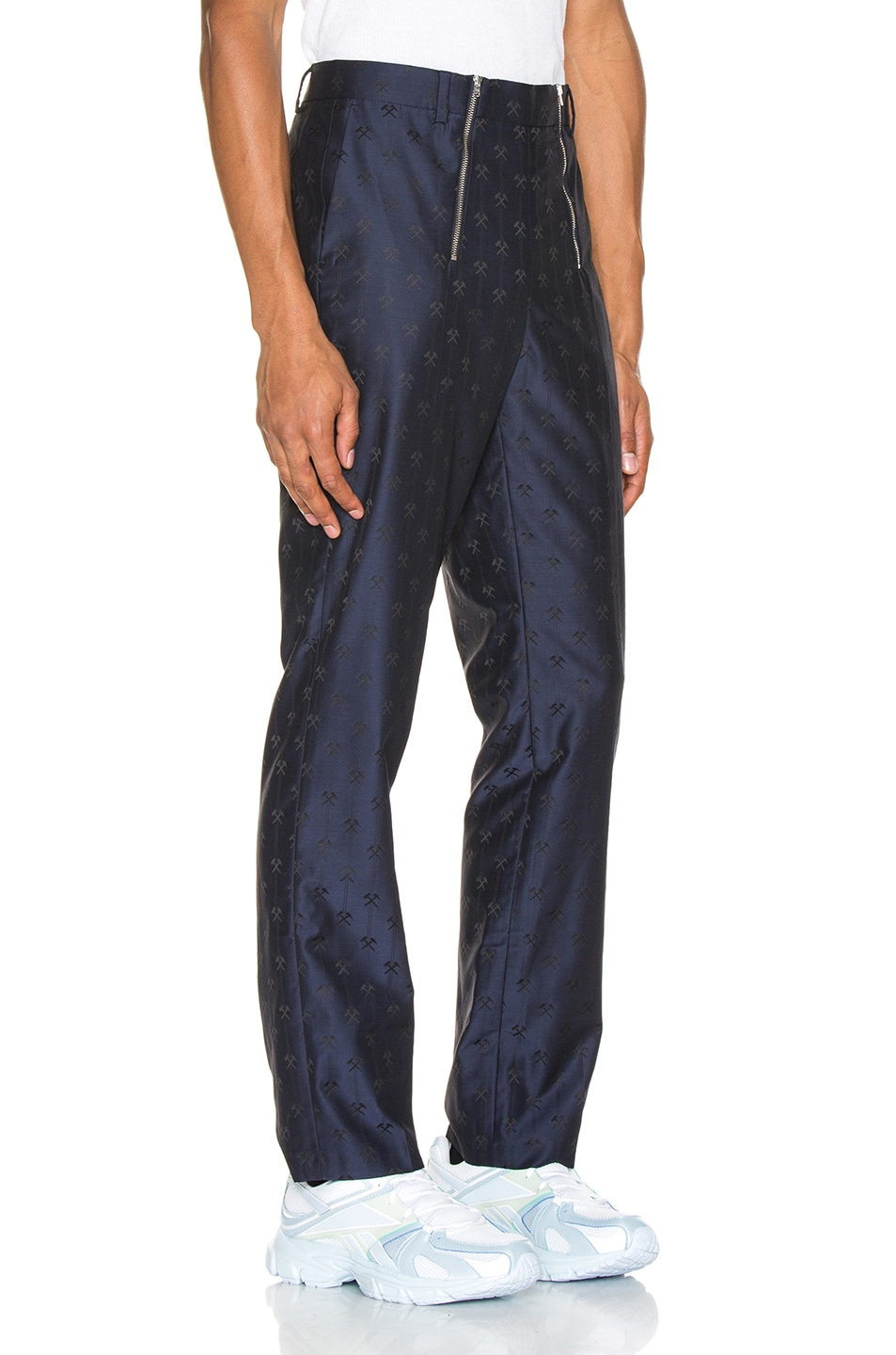 Image 2 of GmbH Talc Jacquard Trouser in Navy
