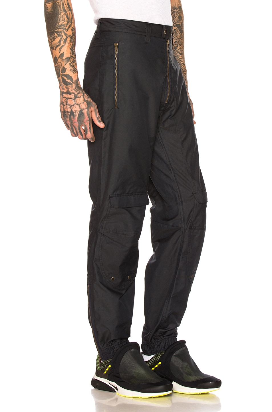 Gmbh Pants Cargo Exposed Zipper Trousers