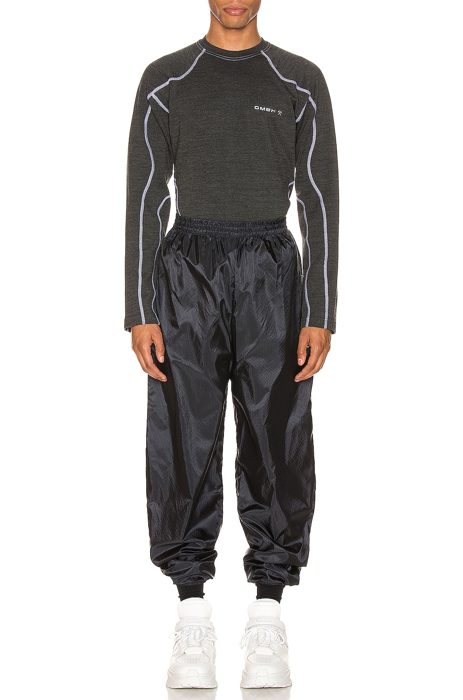 Image 4 of GmbH Shield Logo Jogging Trousers in Black