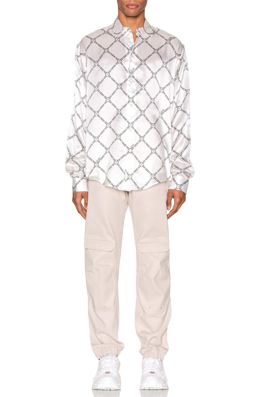 Image 4 of GmbH Geometric Digital Print Shirt in White