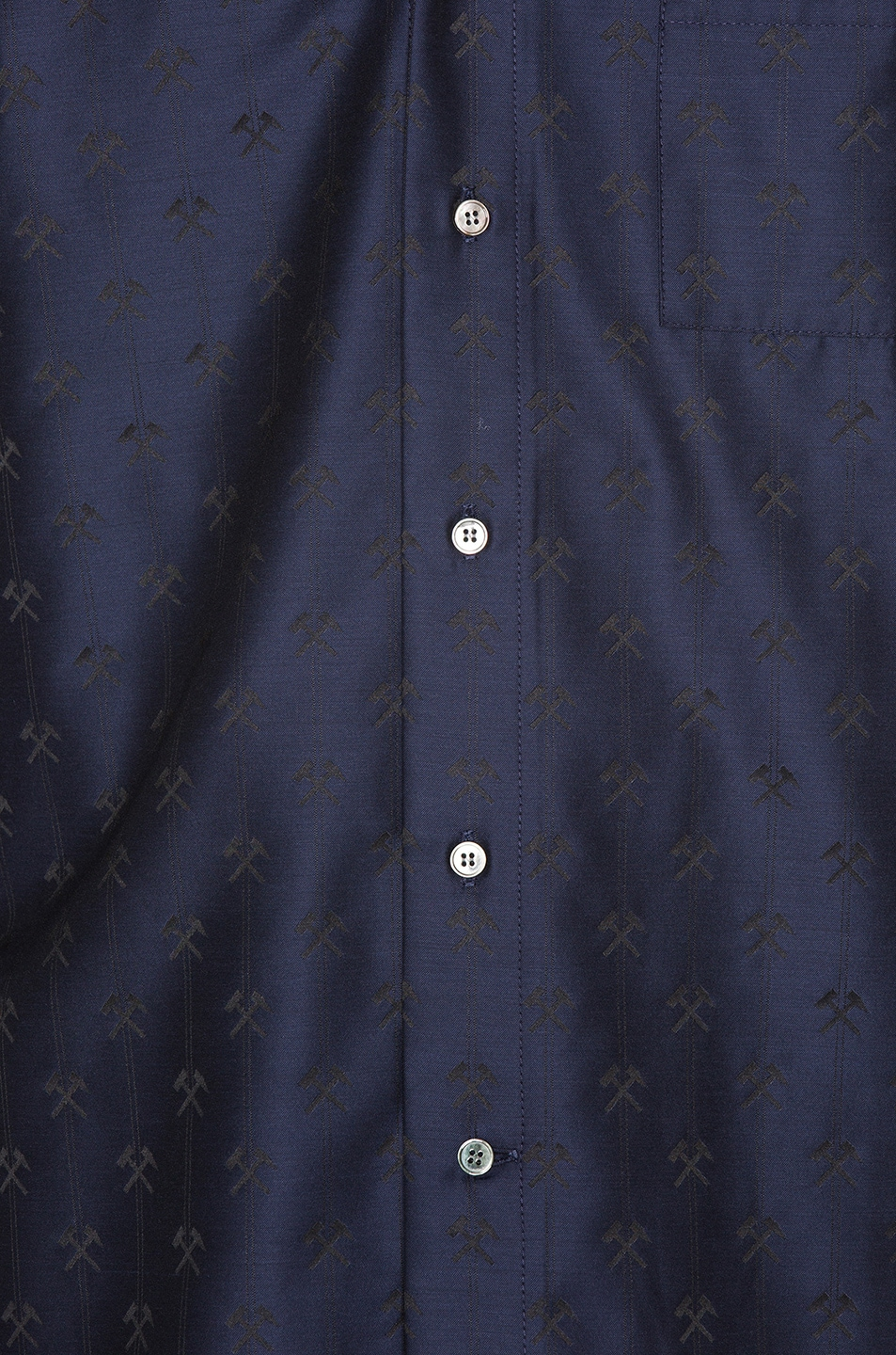 Image 5 of GmbH Pointed Collar Shirt in Navy