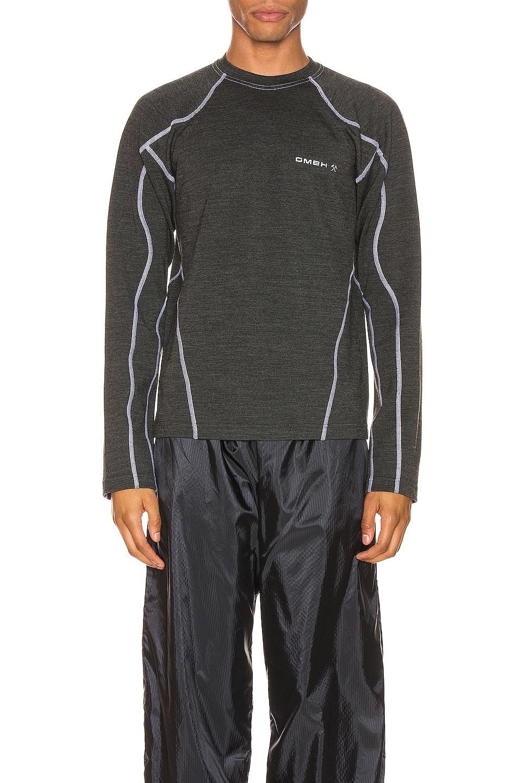 Image 2 of GmbH Long Sleeve Rash Guard Print Jersey in Grey