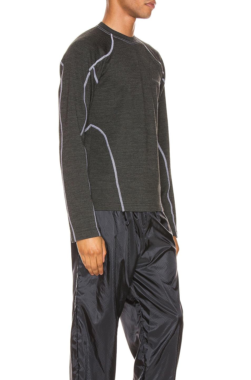 Image 3 of GmbH Long Sleeve Rash Guard Print Jersey in Grey