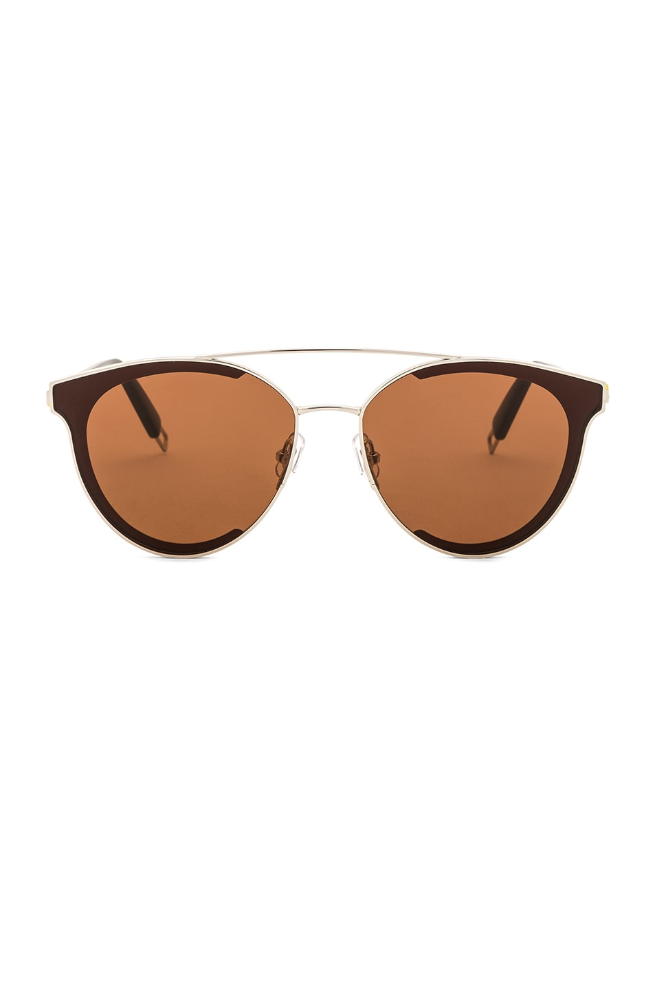 Image 1 of Gentle Monster Last Bow Sunglasses in Silver & Brown