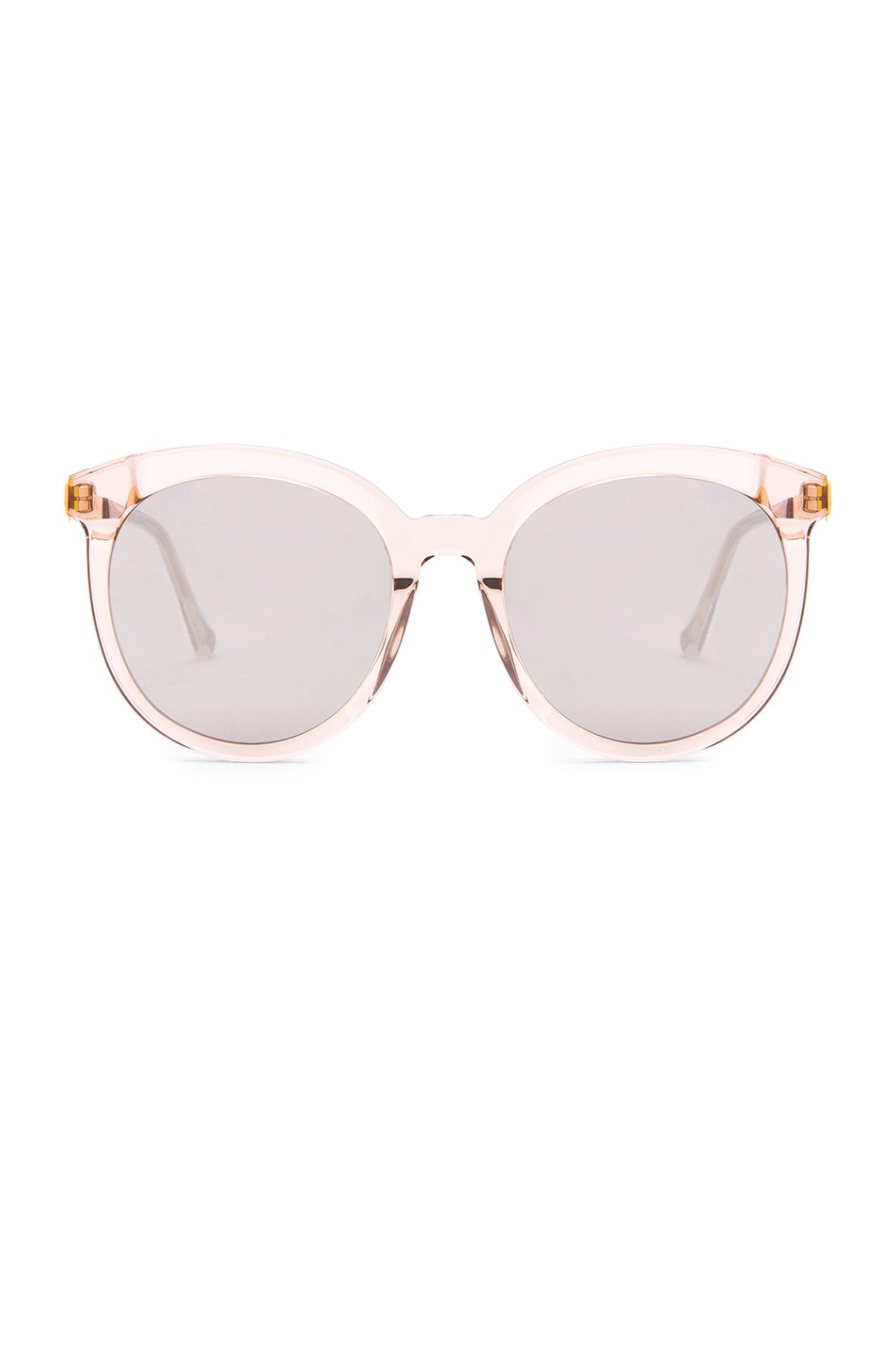 c6703361f Image 1 of Gentle Monster Lovesome Tale Sunglasses in Clear Pink Acetate &  Silver Mirror