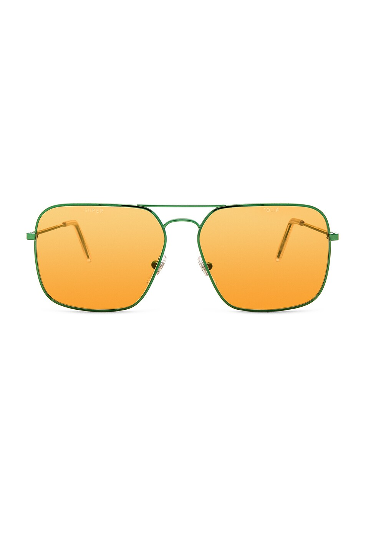 6d98373894e Image 1 of Gosha Rubchinskiy x SUPER Iggy Sunglasses in Green