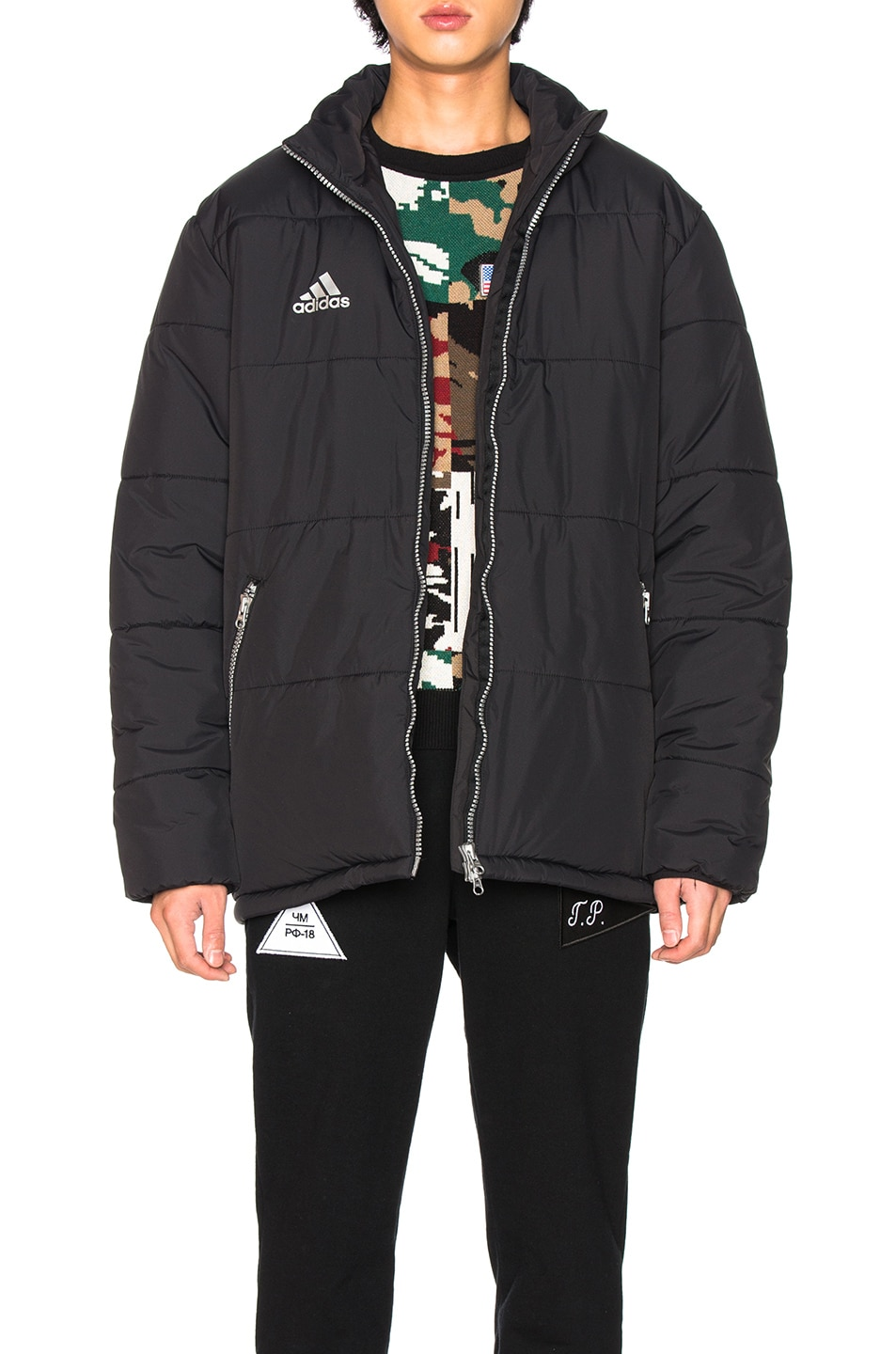 Image 1 of Gosha Rubchinskiy x Adidas Padded Jacket in Black
