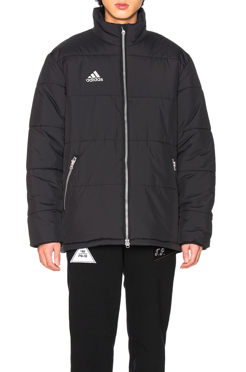 Image 2 of Gosha Rubchinskiy x Adidas Padded Jacket in Black