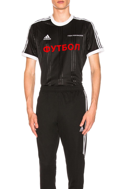 brand new 223be 94e2e Image 1 of Gosha Rubchinskiy x adidas Jersey Tee in Black