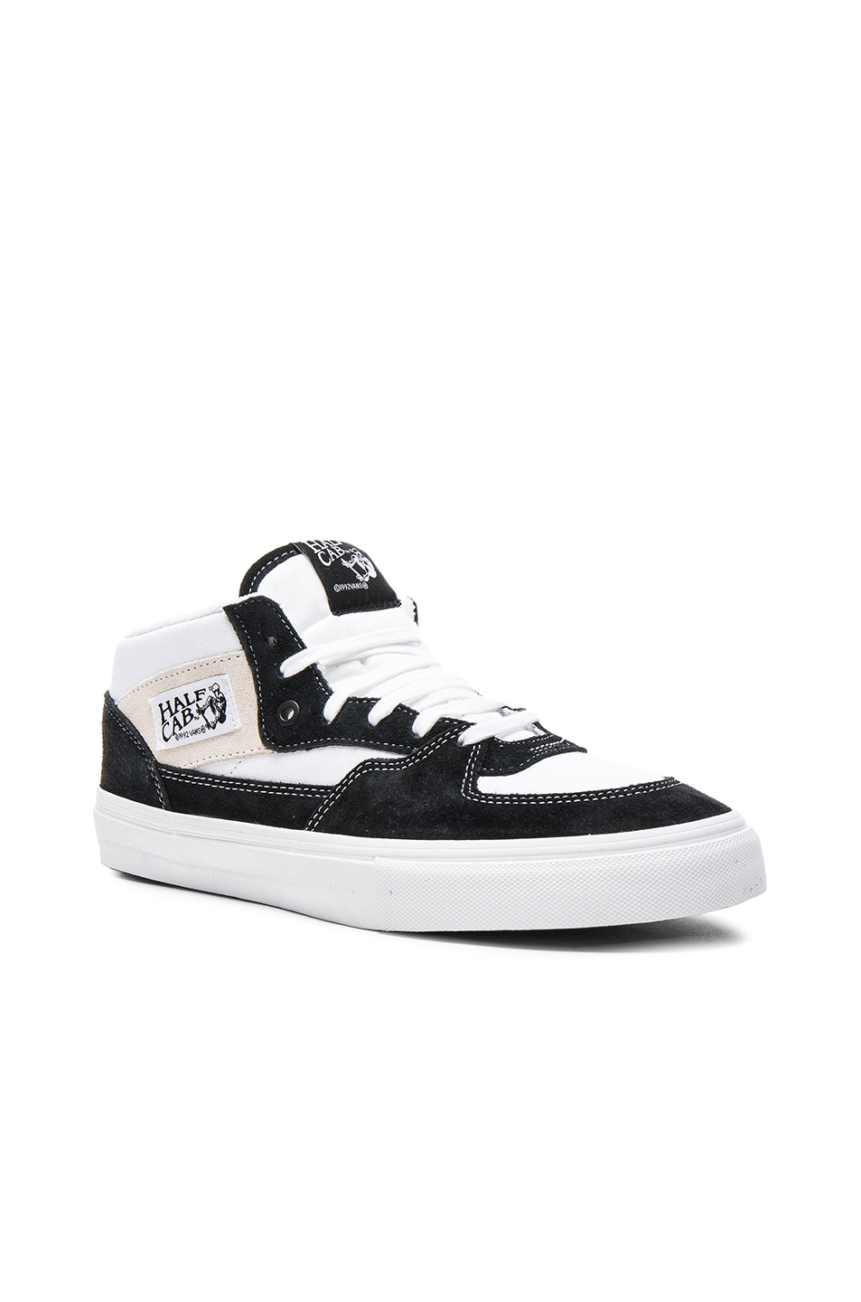 7e7d7ed699ba3e Image 1 of Gosha Rubchinskiy x Vans Half Cab High Sneakers in Black   White