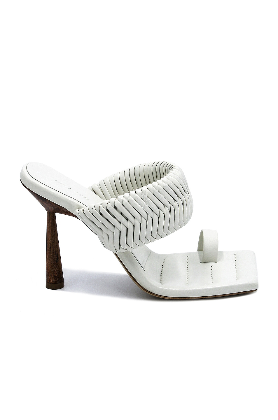 Image 1 of GIA BORGHINI x RHW Toe Ring Mule in White